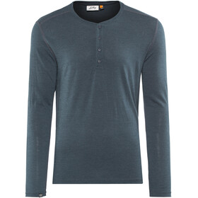 Lundhags Merino Light LS Henley Shirt Men Deep Blue